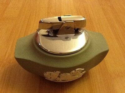 Wedgwood green and white table lighter