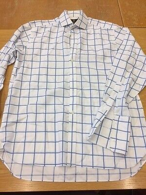 Marks & Spencer Luxury Cotton Timothy Everest Checkered Shirt Size 15 1/2