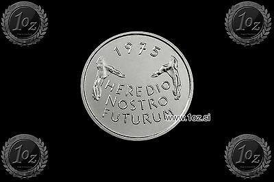 SWITZERLAND 5 FRANCS 1975 (EU MONUMENT PROTECTION YEAR) Comm. coin (KM# 53) aUNC