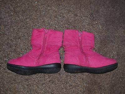 Girls pink boots Size 6