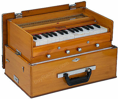Harmonium Bina No.23 B Deluxe Small Folding|Teak Color|Harmonium|32 Key|2½|Daa-2