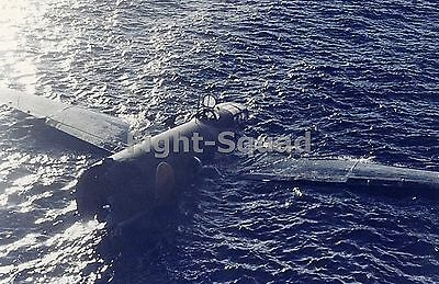 WW2 Picture Photo Aug 1942 Shot Down Floating Japanese G4M1 bomber 1422