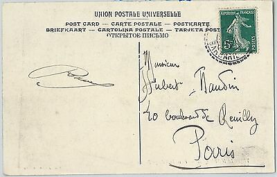 58899 - FRANCE - POSTAL HISTORY: FRENCH stamp on POSTCARD from LIBYA 1909