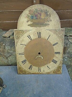 Antique Grandfather Clock Dial And Movement