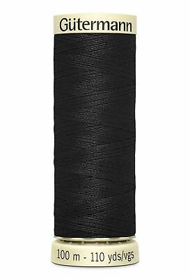 Gutermann Sew-all Thread 100m Colour 000 BLACK, 100% Polyester