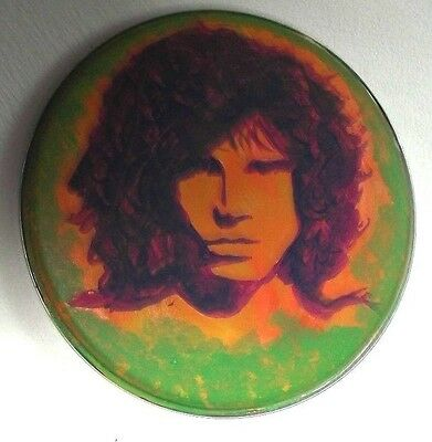 Jim Morrison, The Doors, Hand Painted Drumhead 12 Ins Across..ready To Hang Sale