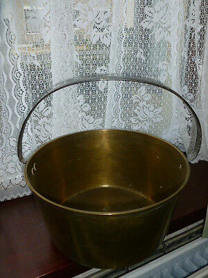 Antique Large Brass JAM PAN with Handle