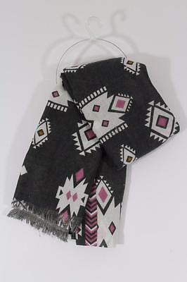 Zara Kids Girls Diamond Pattern Scarf  Size M Medium Ref 3974/745