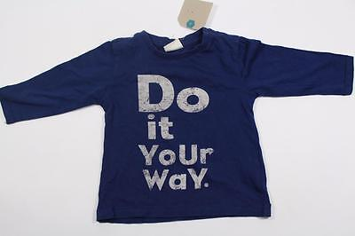 Zara Baby Boys Blue Top With Do It Your Way Logo Age 3-6 Months Ref 5322/556