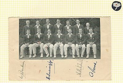 YORKSHIRE CRICKET TEAM PHOTOGRAPH c1933 SIGNED BY SUTCLIFFE MITCHELL WOOD BARBER