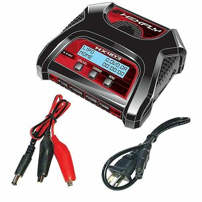 Redcat RC AC/DC LiPo LiFe Battery Charger HEXFLY HX-403 Dual Port 2s, 3s, 4s
