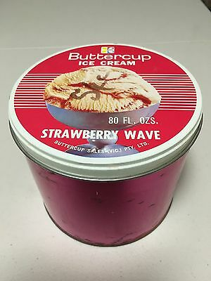 Buttercup Strawberry Wave Ice Cream Tin 1960's