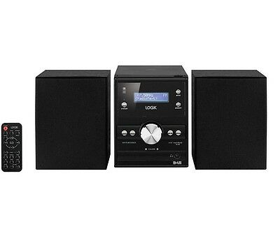 Logik Lhfdab14 Traditional Micro Hi-Fi Stereo System 10W Cd Player Dab Tuner