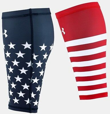 *nwt* Under Armour Heat Gear Compression Calf Sleeves American Flag Edition