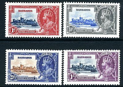 BARBADOS-1935 Silver Jubilee Sg 241-4 MOUNTED MINT V13891