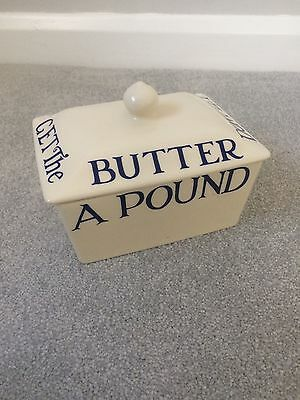 Emma Bridgewater - Butter Dish (Dont le the cat get the butter / Blue)