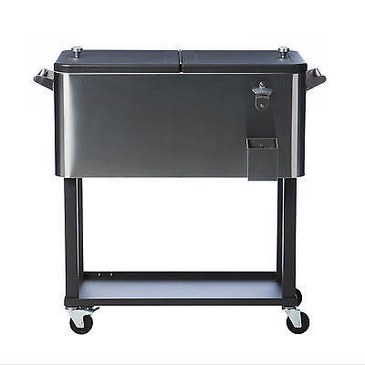 Trinity Stainless Steel Cooler with Casters
