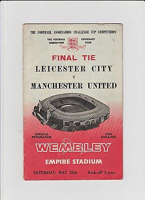 1963  FA CUP FINAL PROGRAMME - LEICESTER CITY v MANCHESTER UNITED