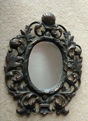 Edwardian/ victorian ornate cast iron framed mirror