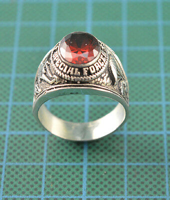 Vietnam War Era Silver US Army Airborne Special Forces Ring C.4608