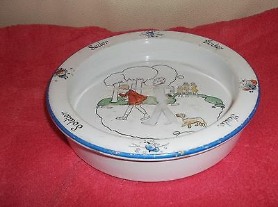 Shelley Baby Plate Tinker Tailor Soldier Sailor Thief Policeman Gladys Peto