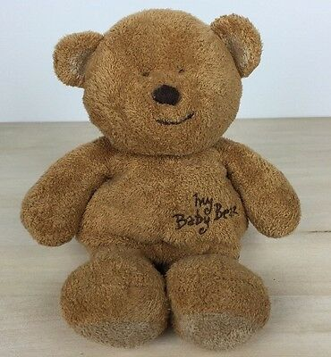 "2004 Ty Pluffies My Baby Bear 9"" Brown Plush Baby Toy Stitched Eyes"