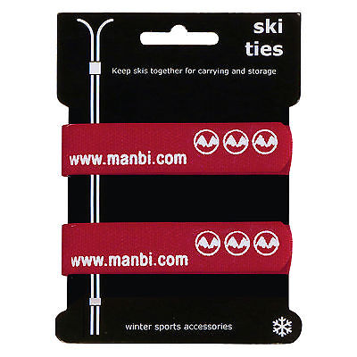 Pair of Velcro Ski Ties strap your skis together on the move or Trouser clip