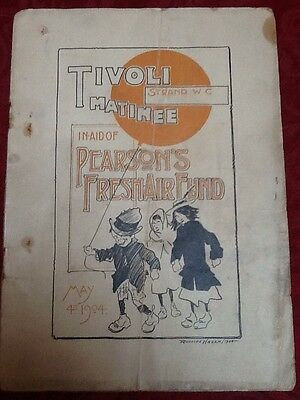 """Tivoli Strand Theatre - 1904 """"Matinee In Aid Of Persons Fresh Air Fund"""""""