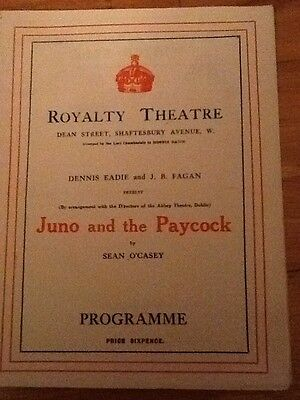 """The Royalty Theatre - """"Juno And The Paycock"""" 1926 Sara Allgood, Arthur Sinclair"""