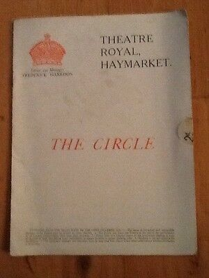 """Theatre Royal Haymarket - 1921 """"The Circle"""" Fay Compton, Ernest Thesiger"""