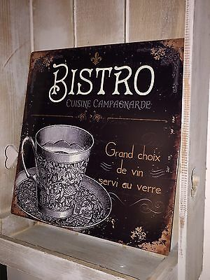 Metal Wall Plaque Shabby French Vintage Chic Bistro Retro Kitchen Tin Sign Gift