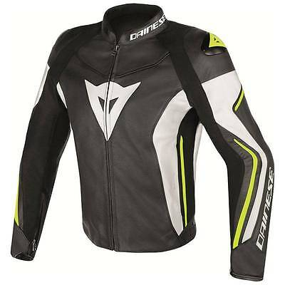 NEW Dainese Super Speed C2 Leather Jacket MENS Black/Green/White