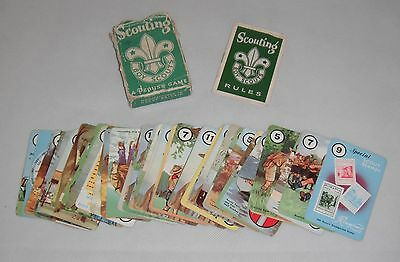 UK Boy Scout Scouting Card Game by Pepys - Complete
