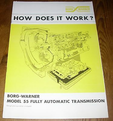 Borg Warner 55 Automatic Transmission Auto How It Works Austin Morris Triumph
