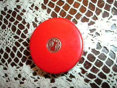 Vintage red Helena Rubinstein makeup compact, 1930's to 1960's?