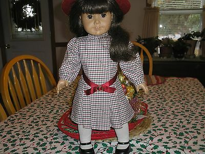 "American Girl Retired 18"" Samantha Doll Marked Pleasant Company Original W/hat"