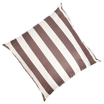 """2 Pack Ivory / Mink Stripe LARGE 24"""" Outdoor Patio Waterproof Cushion Filled"""