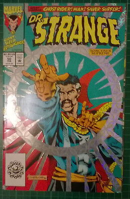 marvel comics - dr strange #50,foil cover,new condition,bagged & boarded
