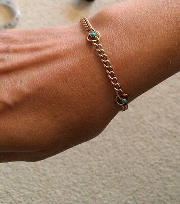 Exquisite Victorian Bracelet - 9CT Gold And Turquoise! FLASH SALE!