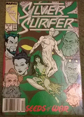 marvel comics - silver surfer #6,dec 1987,new condition,bagged & boarded