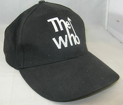"Vintage ""the Who"" Baseball Cap - Black - Used, But Lovely Condition"