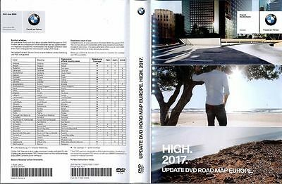 2017 Bmw High Road Map Europe Navigation 2-Dvd Genuine Original Sat Nav