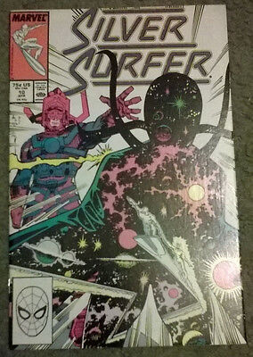 marvel comics - silver surfer #10,april 1988,new condition,bagged & boarded