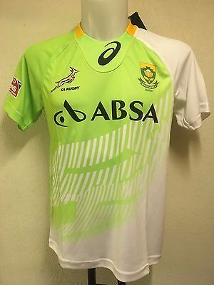 South Africa Springboks Rugby Alternative 7's Match Jersey By Asics Adults Large