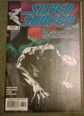 marvel comics - silver surfer #137,march 1998,new condition,bagged & boarded