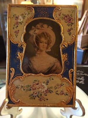 Vintage Florentine Hand Painted Picture
