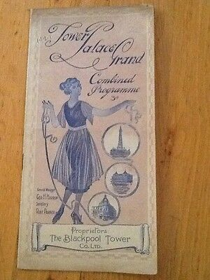Tower Palace Grand, Blackpool - 1921 Combined Programme