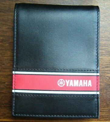MotoGP GENUINE YAMAHA MOTORCYCLES LEATHER MONEY CLIP / BILL FOLD  (NEW)