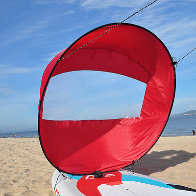 """Pactrade Marine PVC Wind Sail Board Downwind Paddle Popup Kayak 42"""" Red"""