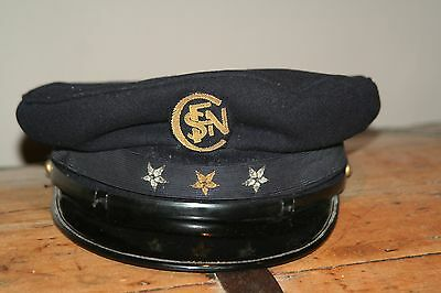 Ancienne casquette agent SNCF chef de gare ticket train locomotive